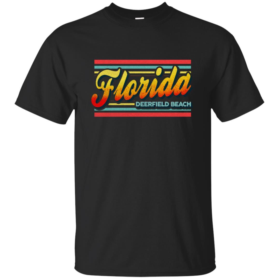 Deerfield Beach Florida Retro Vintage 80s Unisex Short Sleeve