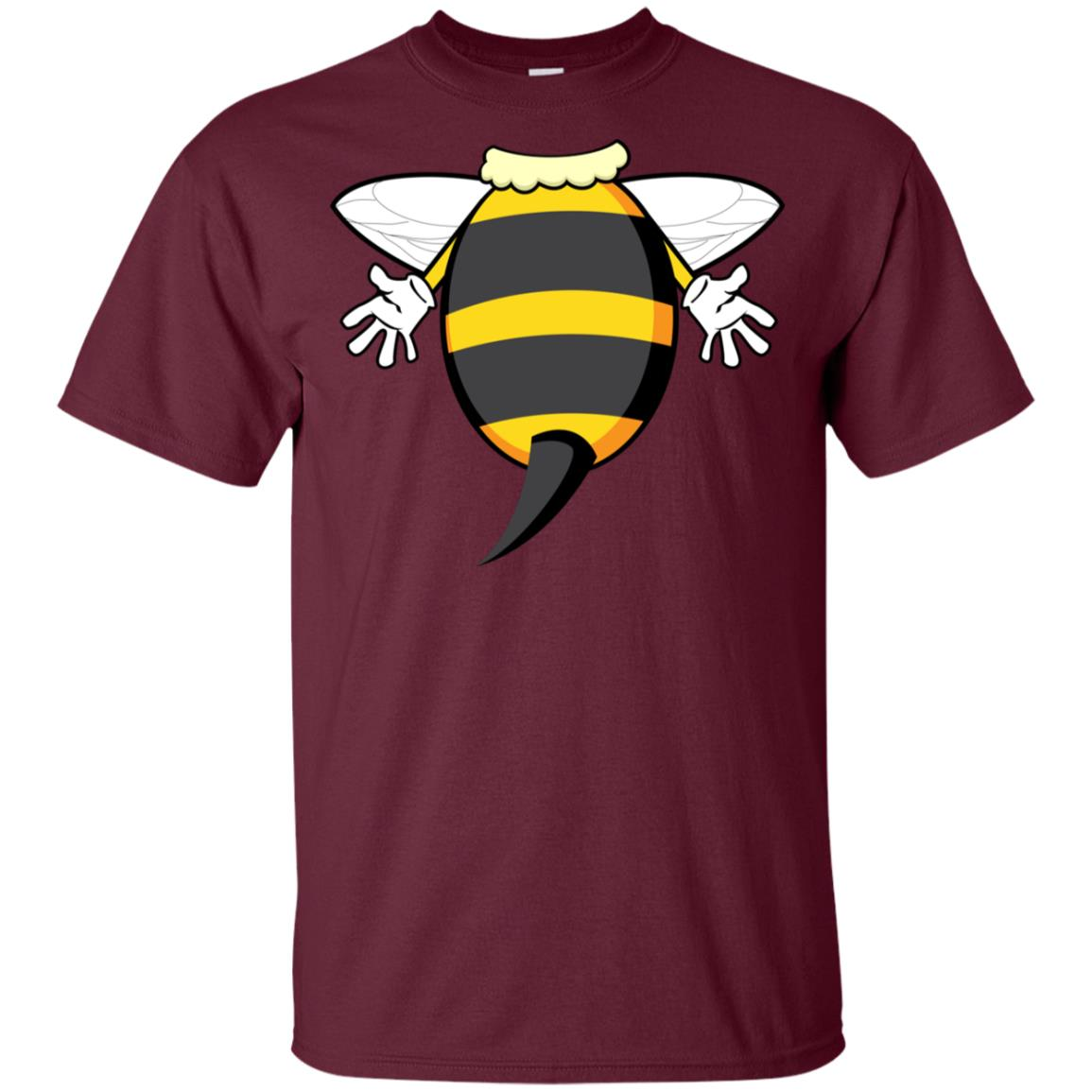 Funny Bee Costume Easy – Honeybee Halloween Cheap Gift Youth Short Sleeve