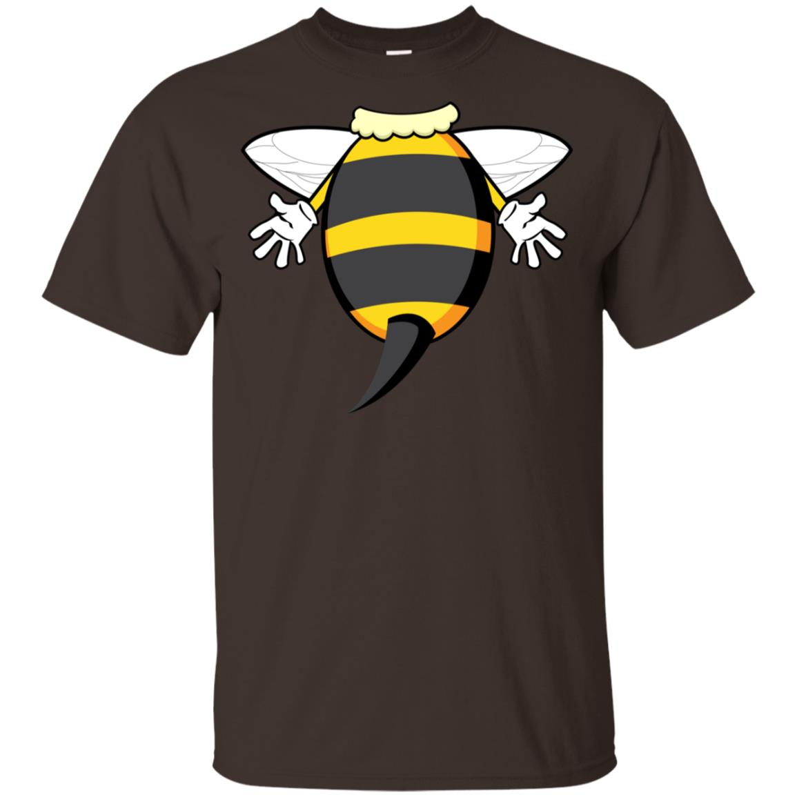 Funny Bee Costume Easy - Honeybee Halloween Cheap Gift Youth Short Sleeve