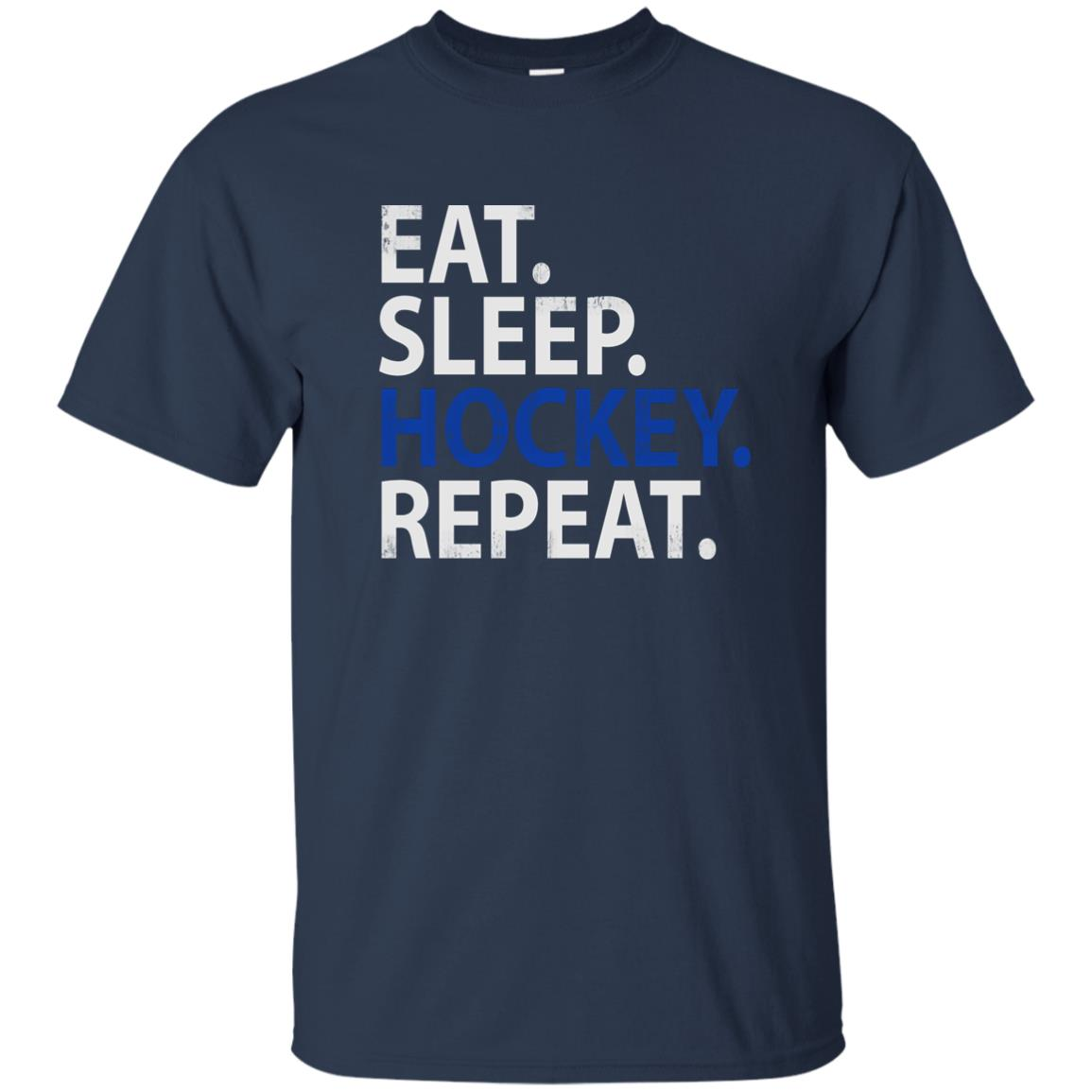 Eat Sleep Hockey Repeat Funny Birthday Party Unisex Short Sleeve
