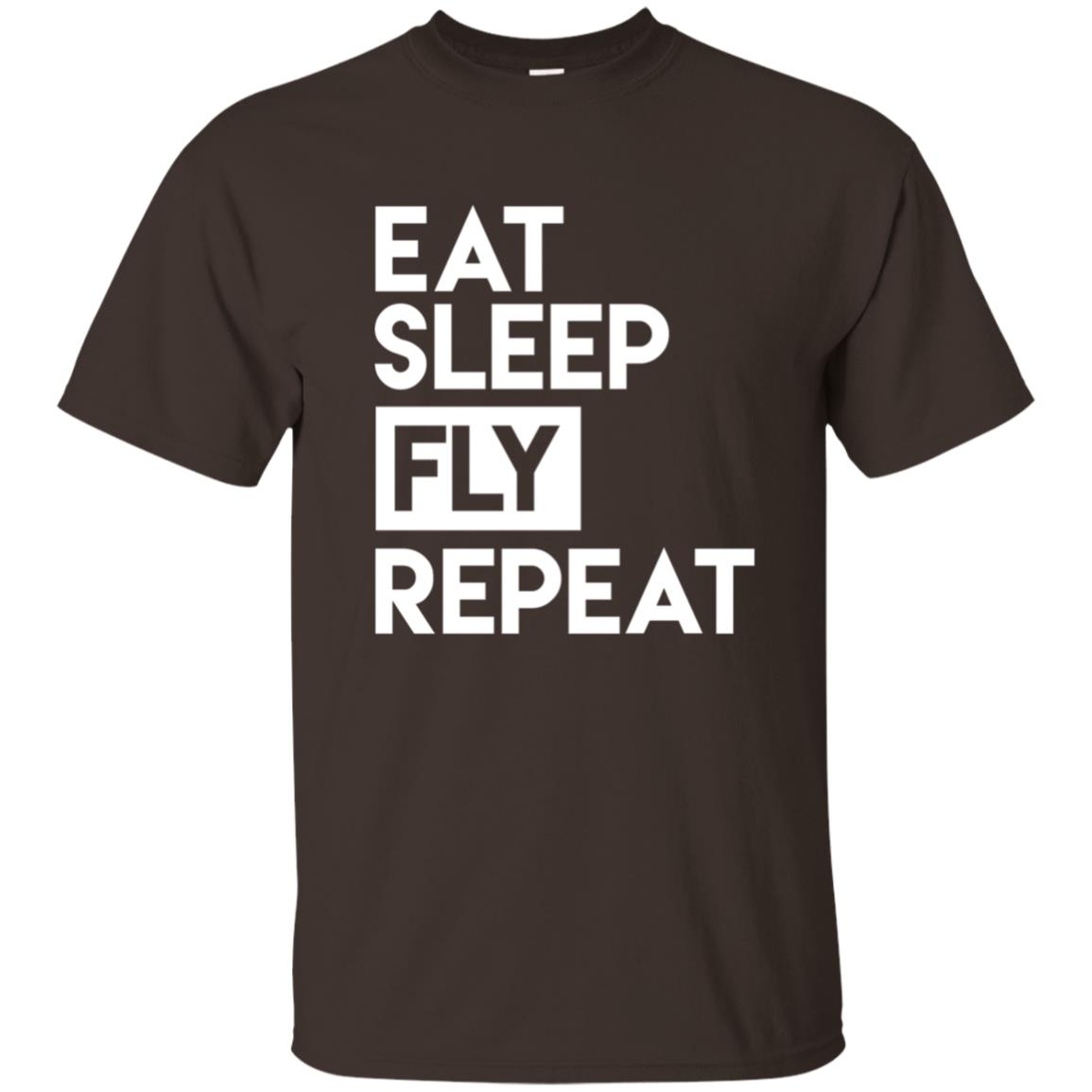 Eat Sleep Fly Repeat – Funny Aviator for Pilot Unisex Short Sleeve