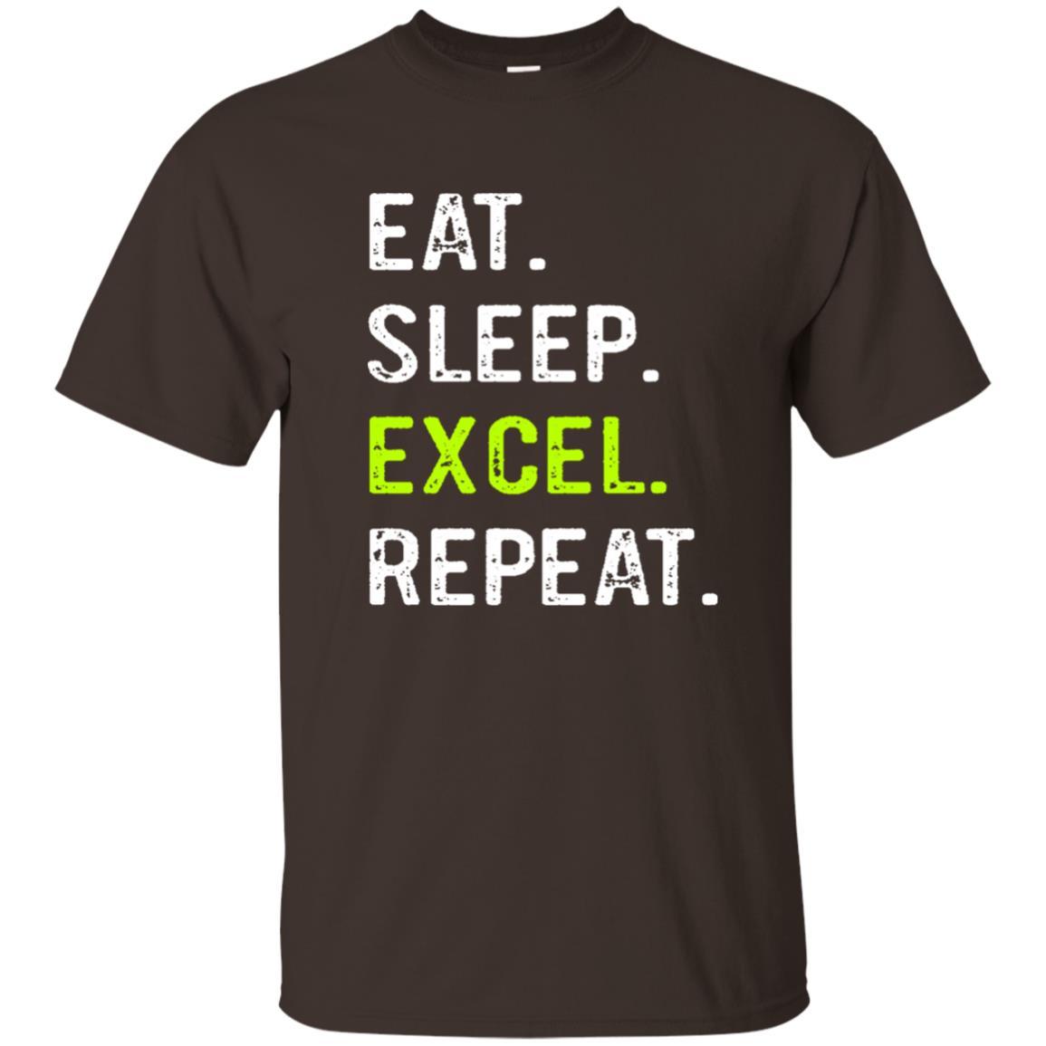 Eat Sleep Excel Repeat Funny Spreadsheet Unisex Short Sleeve