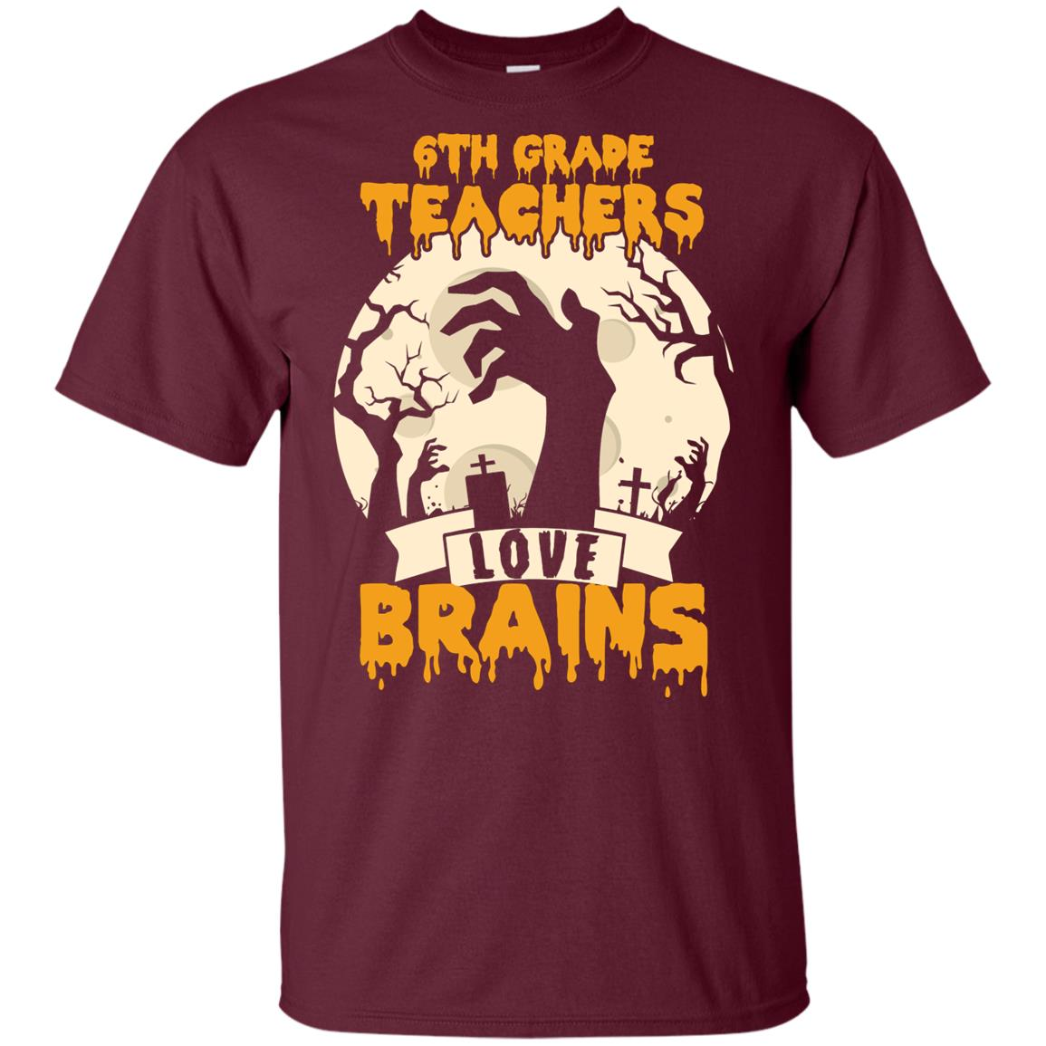 6th Sixth Grade Teachers Love Brain Youth Short Sleeve