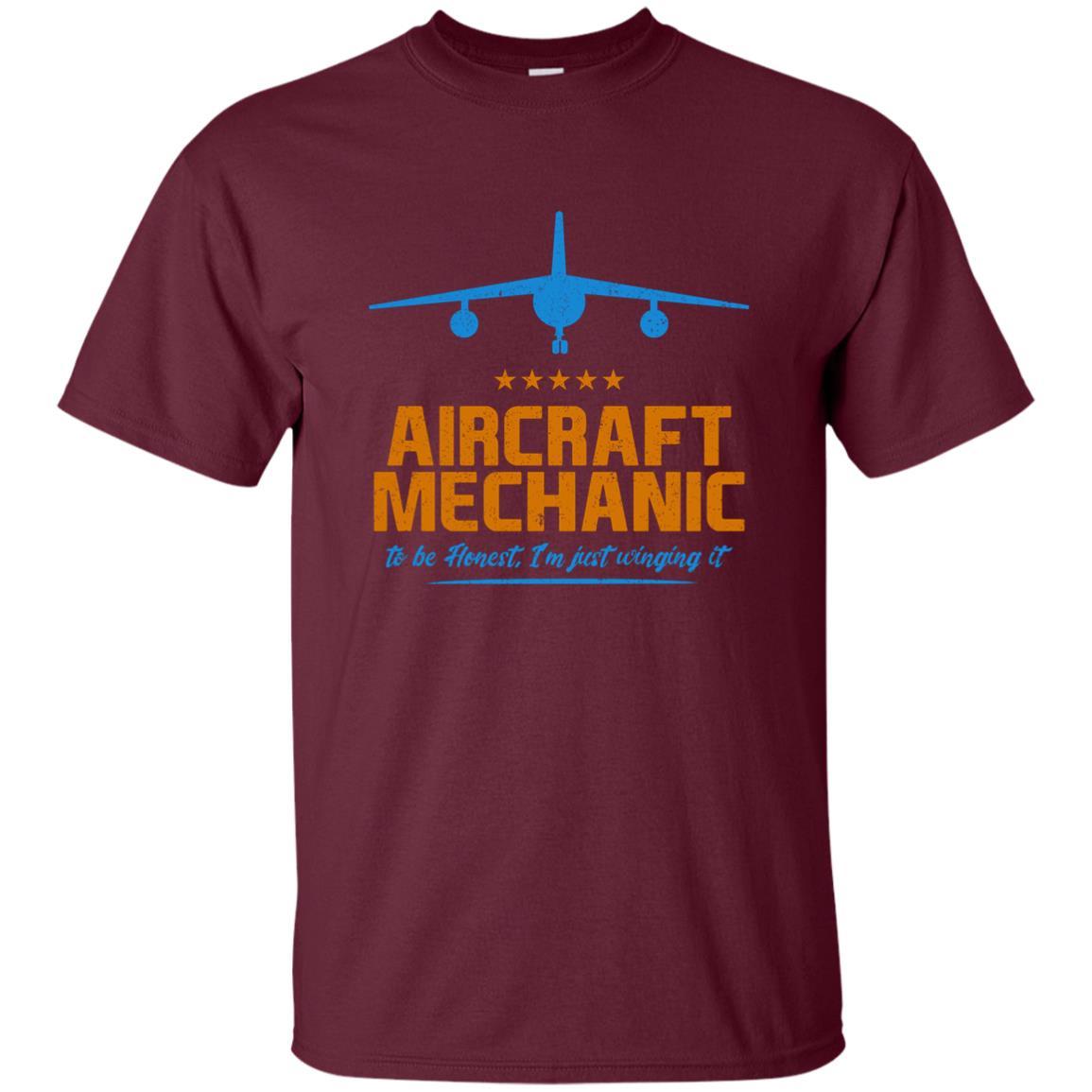 Funny Aircraft Mechanic I'm Just Winging It-1 Unisex Short Sleeve