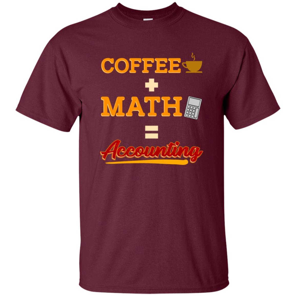 Funny Accounting Coffee Plus Math Equation Unisex Short Sleeve