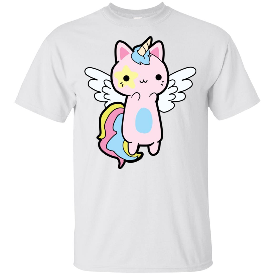 Kawaii Cat Unicorn Unisex Short Sleeve