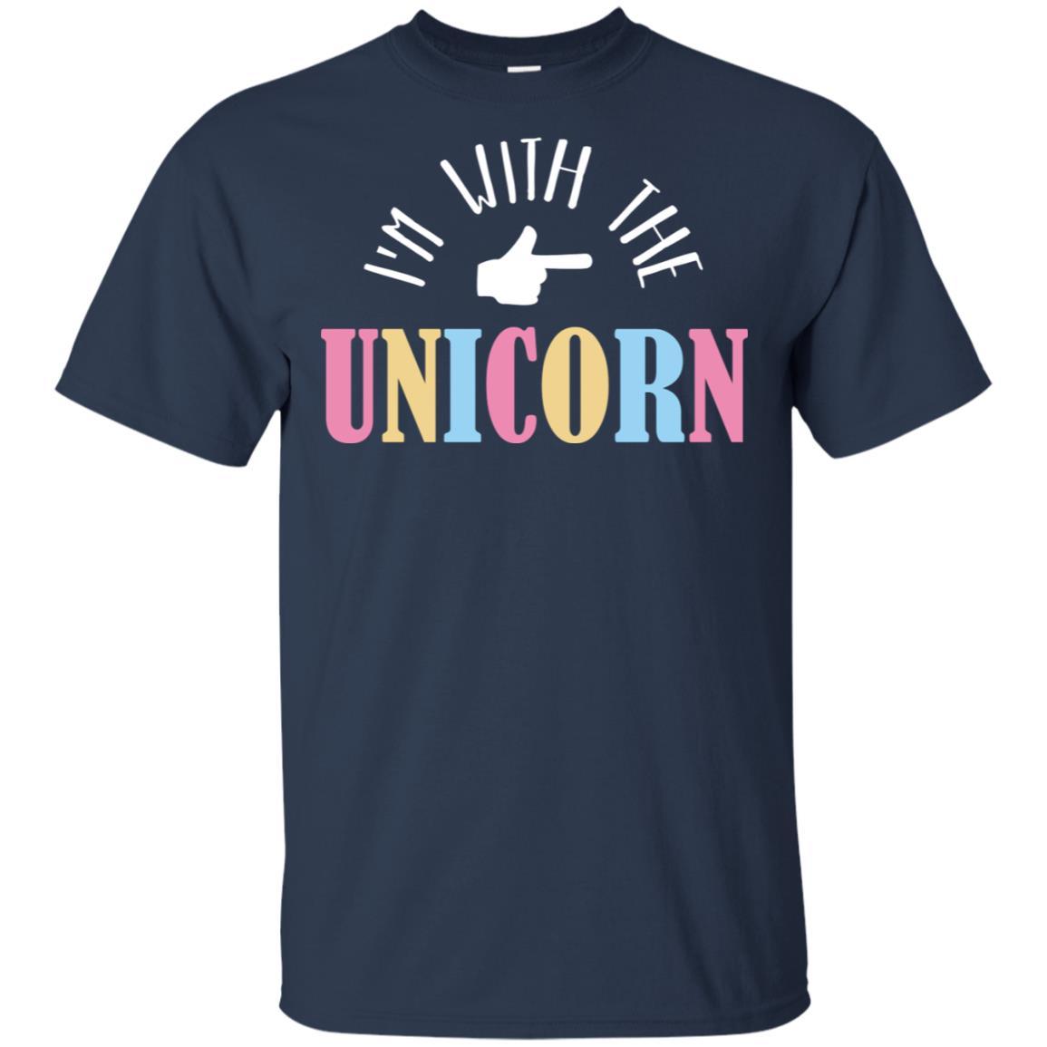 I'm With The Unicorn Cosplay Couple Funny Unisex Short Sleeve