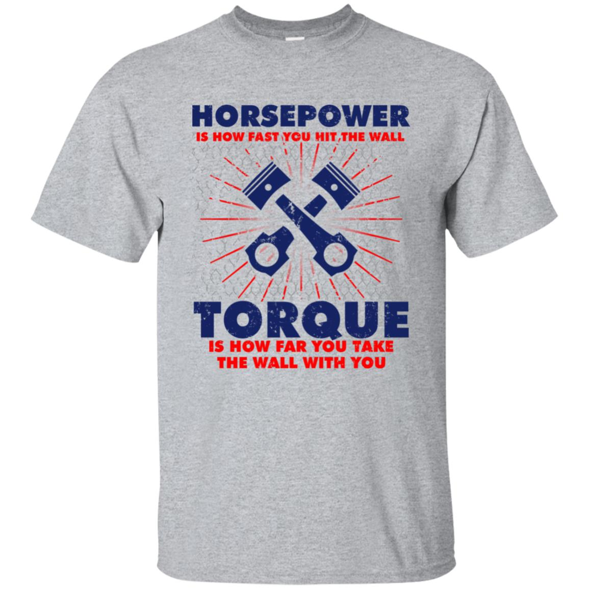 Horsepower vs Torque Diesel Car Mechanic Funny Quote Unisex Short Sleeve