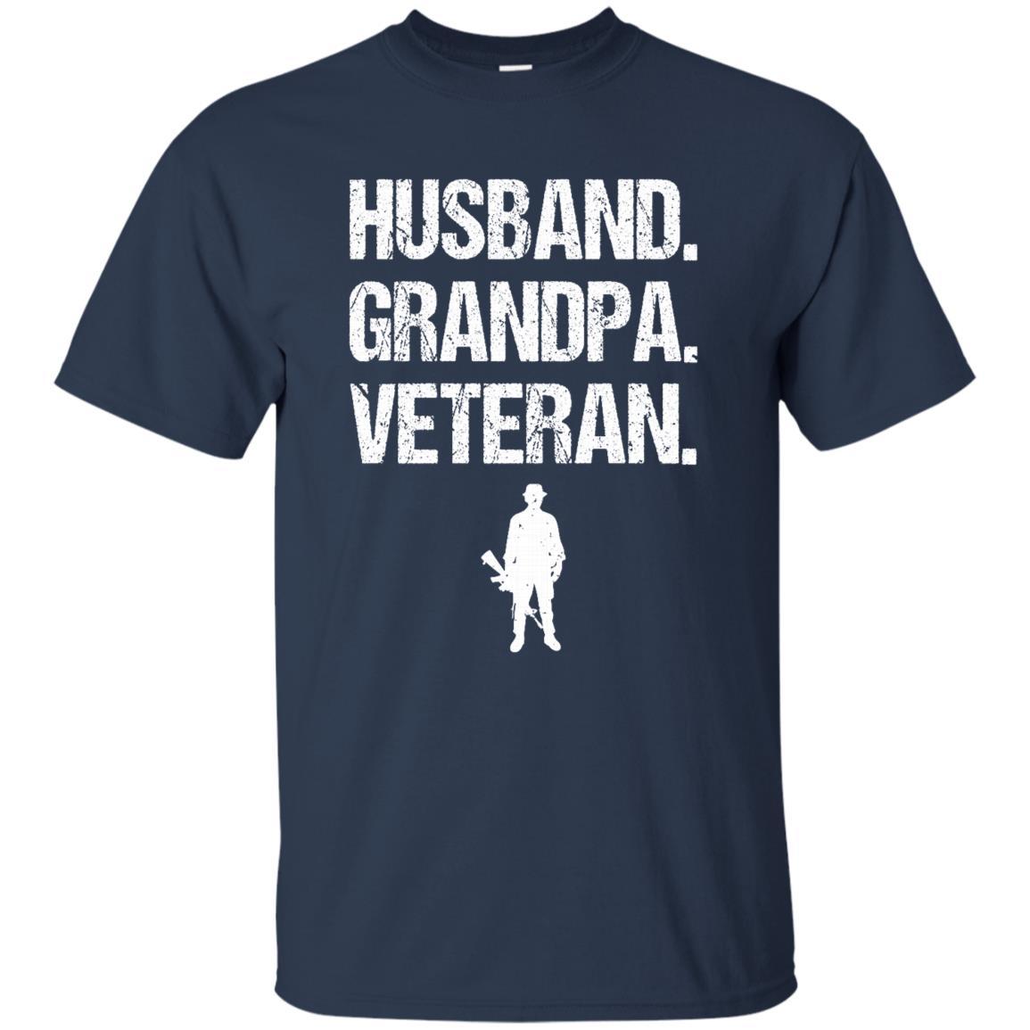 Husband Grandpa Veteran Patriotic Military Unisex Short Sleeve