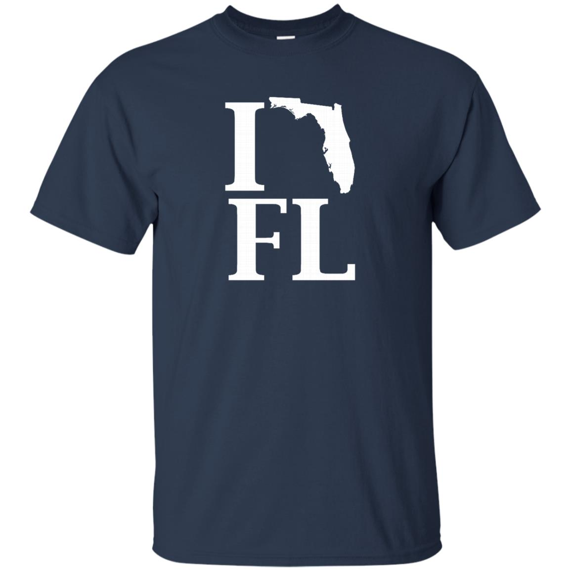 I Heart Love Fl Florida Silhouette State Outline -1 Unisex Short Sleeve