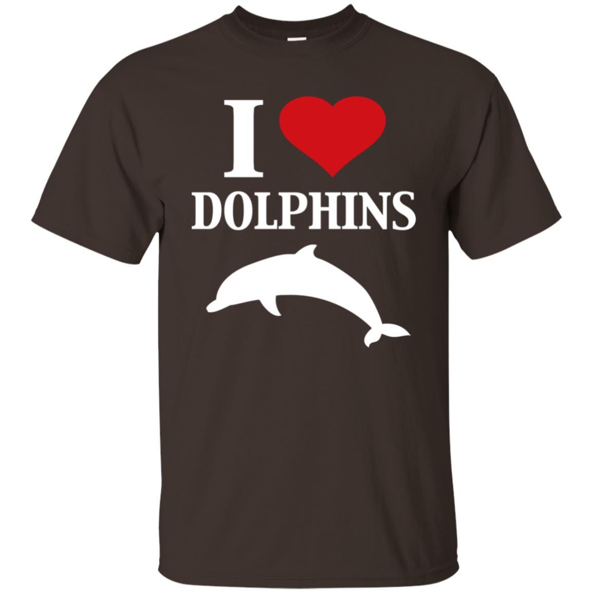 I Heart Love Dolphins Cute Graphic Ocean Animal Unisex Short Sleeve