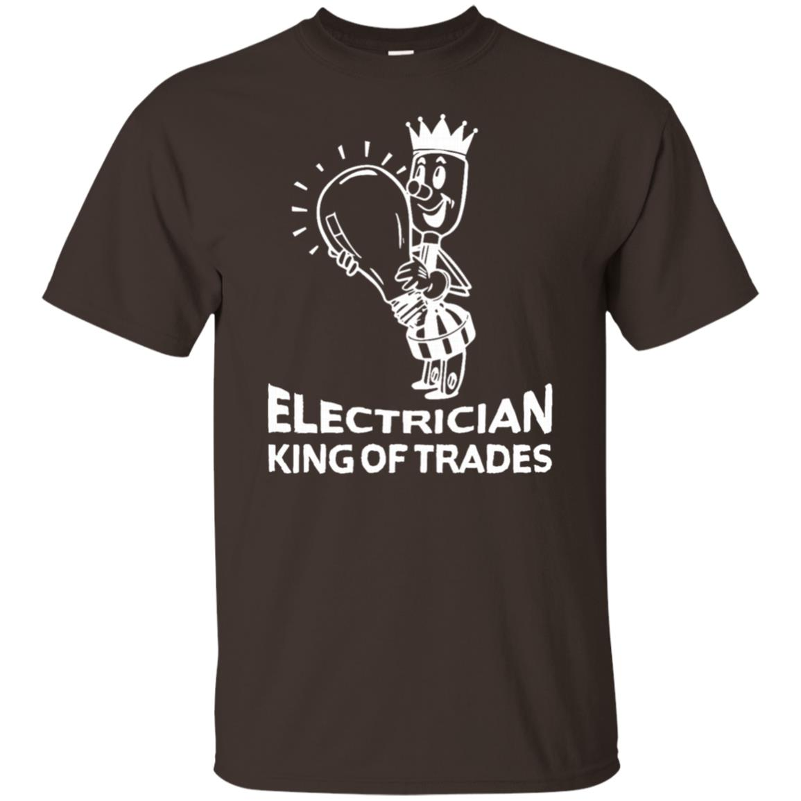 Funny Electrician King of Trades Electrics Unisex Short Sleeve