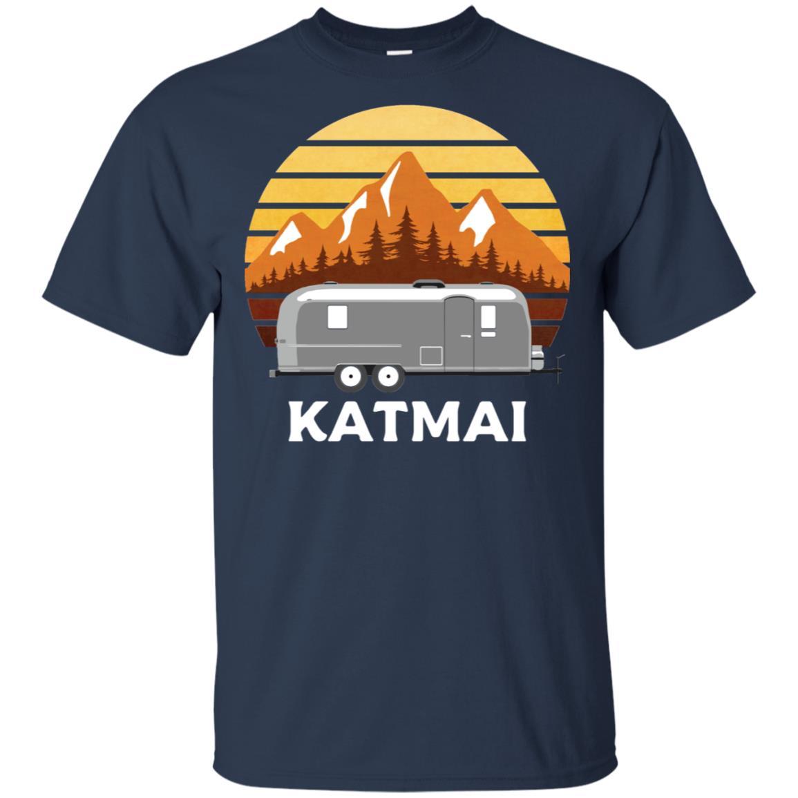 Katmai Camper, Retro Alaska Trailer Gift Unisex Short Sleeve