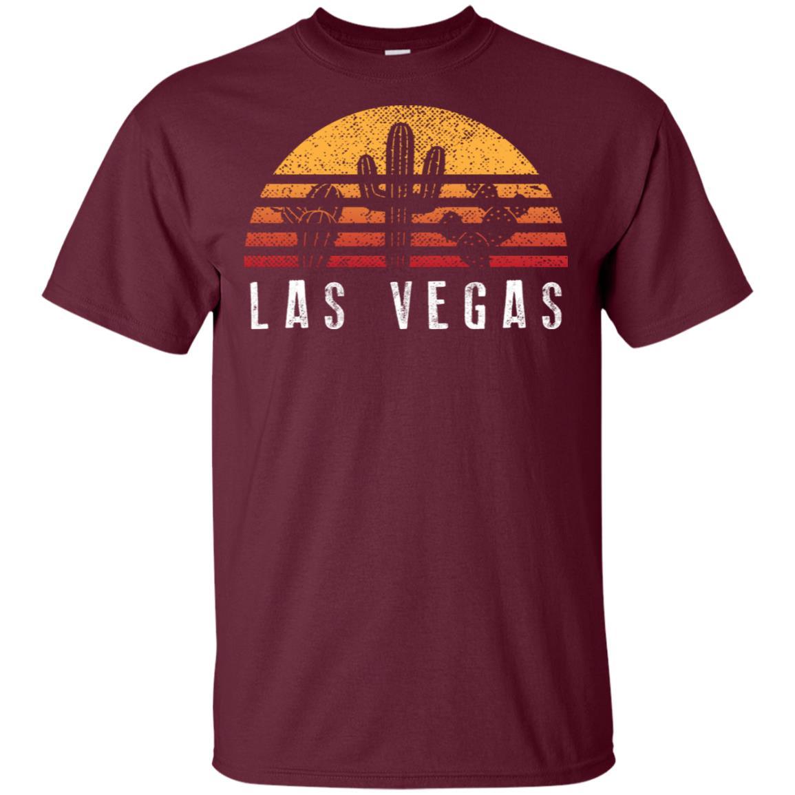 Las Vegas Retro Sunset Cactus Cool Vacation Gift Unisex Short Sleeve