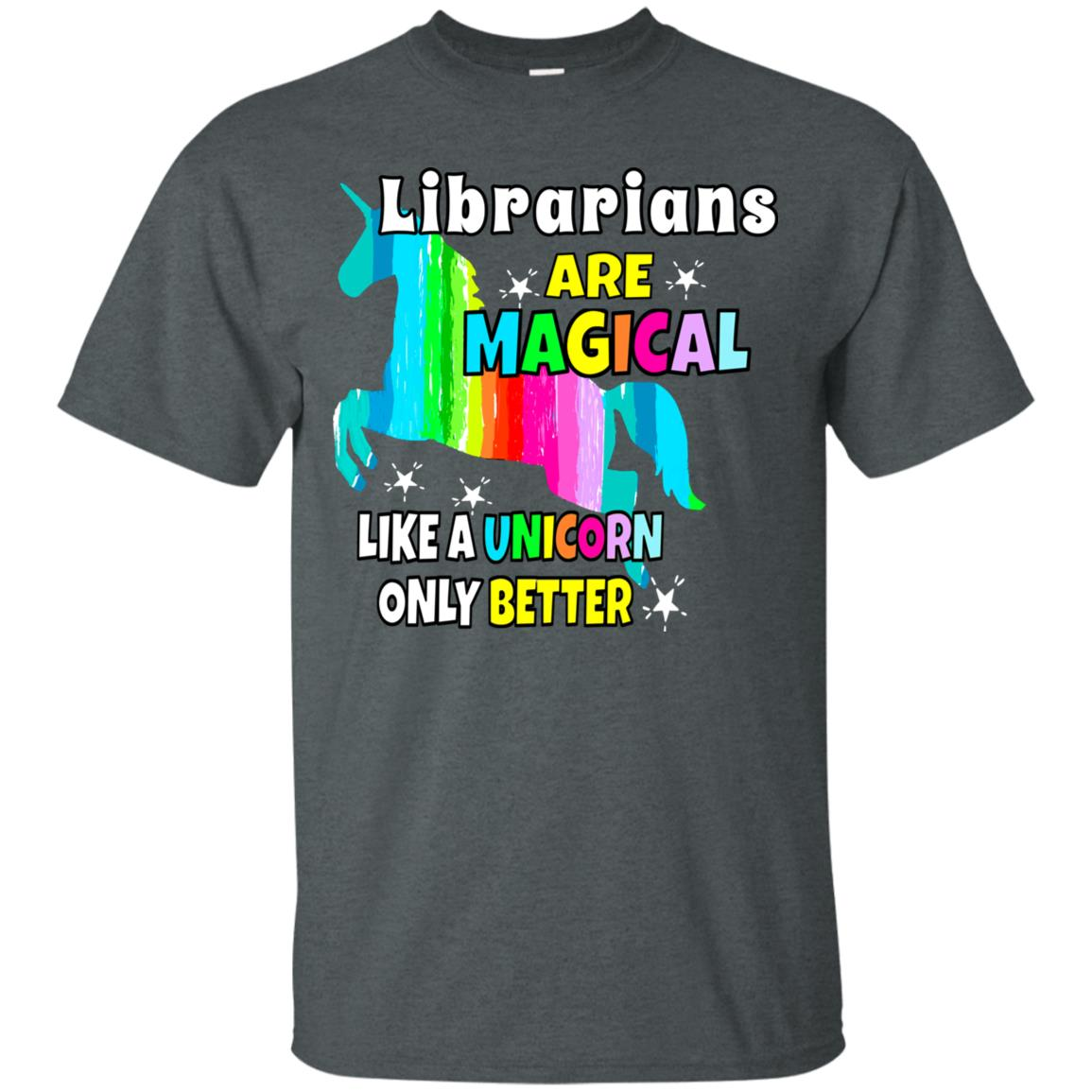 Librarians Magical Like a Unicorn Tee Unisex Short Sleeve
