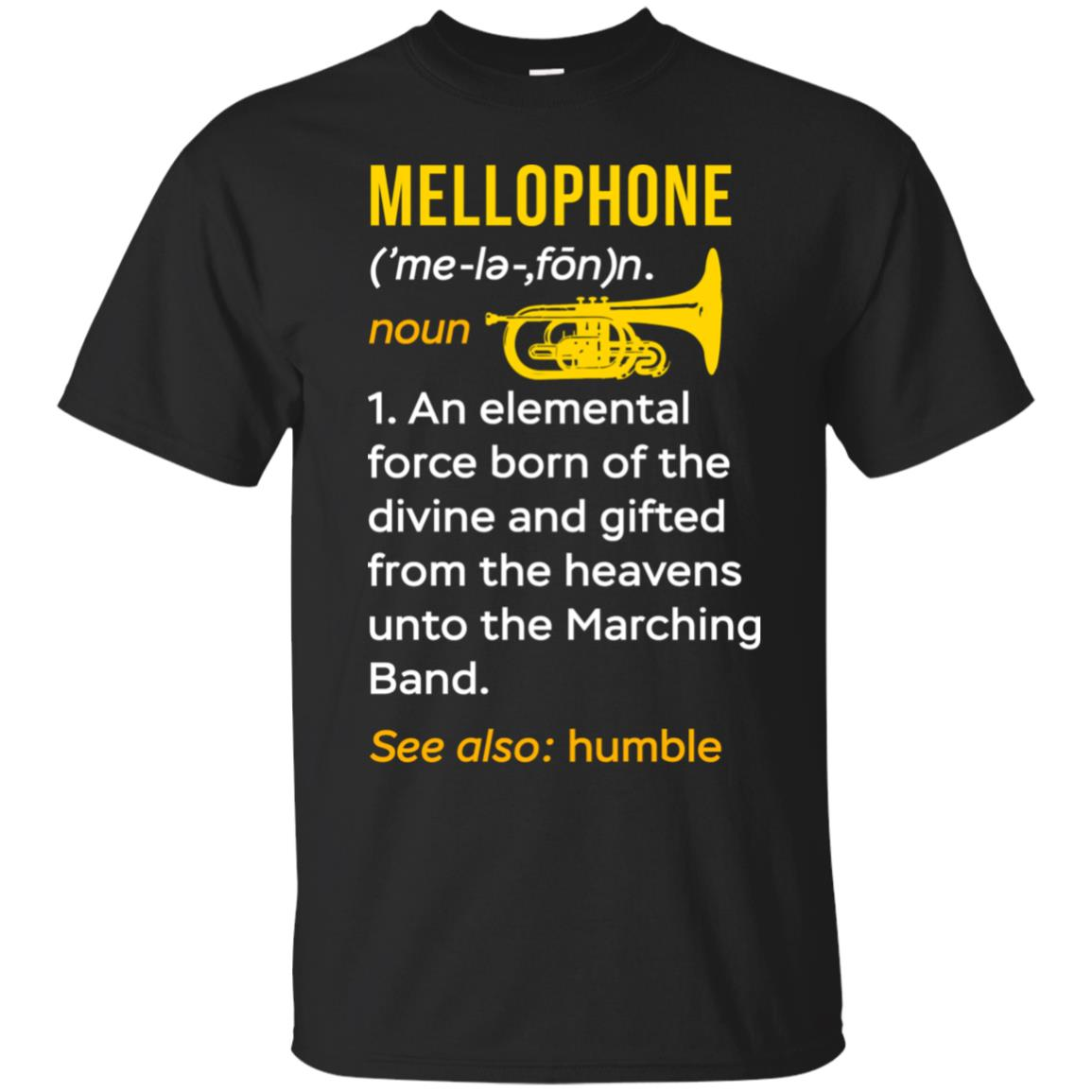 Mellophone Definition Marching Band Tee Musician-1 Unisex Short Sleeve