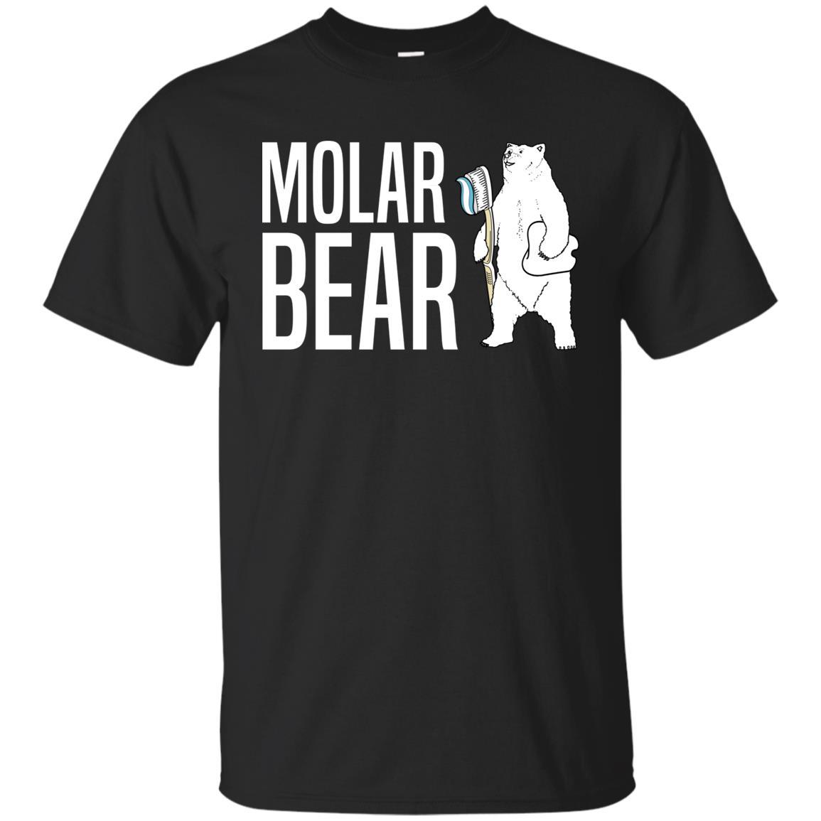 Molar Polar Bear, Dentist Hygienist Gift Unisex Short Sleeve