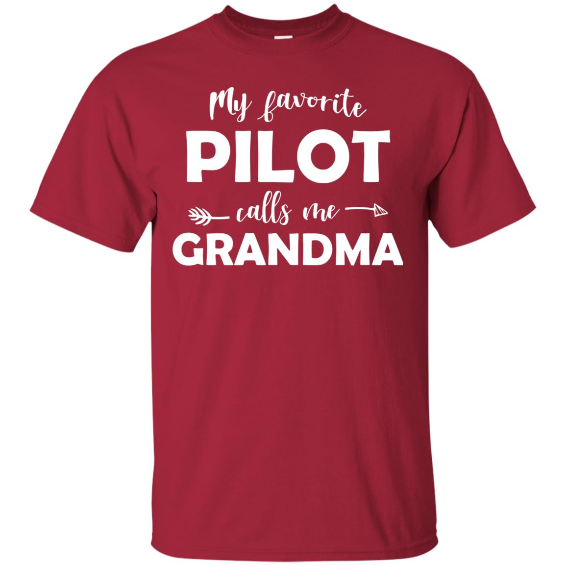 My Favorite Pilot Calls Me Grandma Funny Unisex Short Sleeve