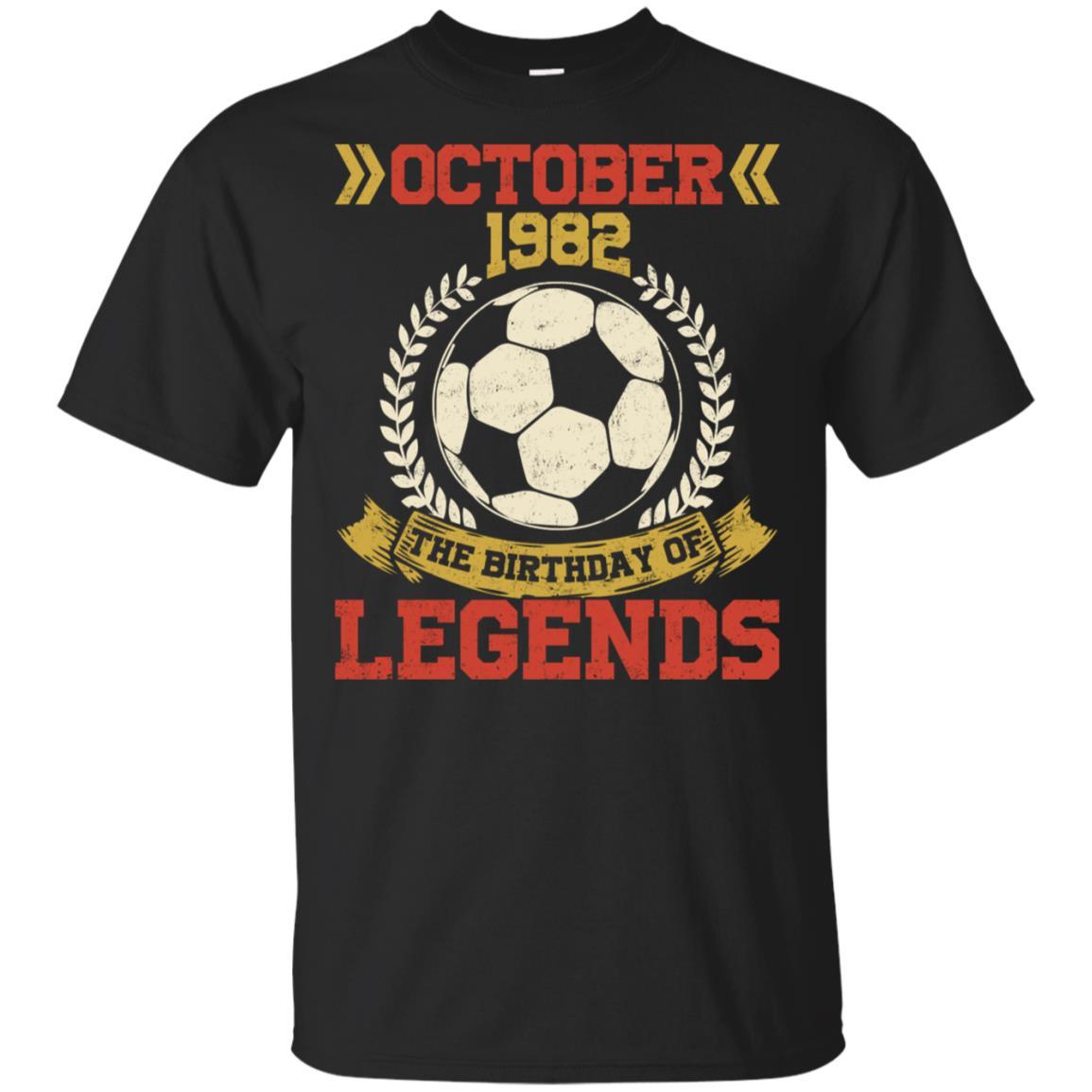 1982 October 36th Birthday Of Football Soccer Legend Unisex Short Sleeve