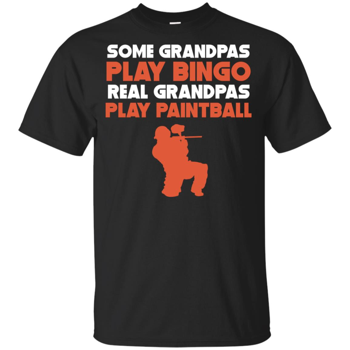 Some Grandpas Play Bingo Real Grandpas Play Paintball Youth Short Sleeve