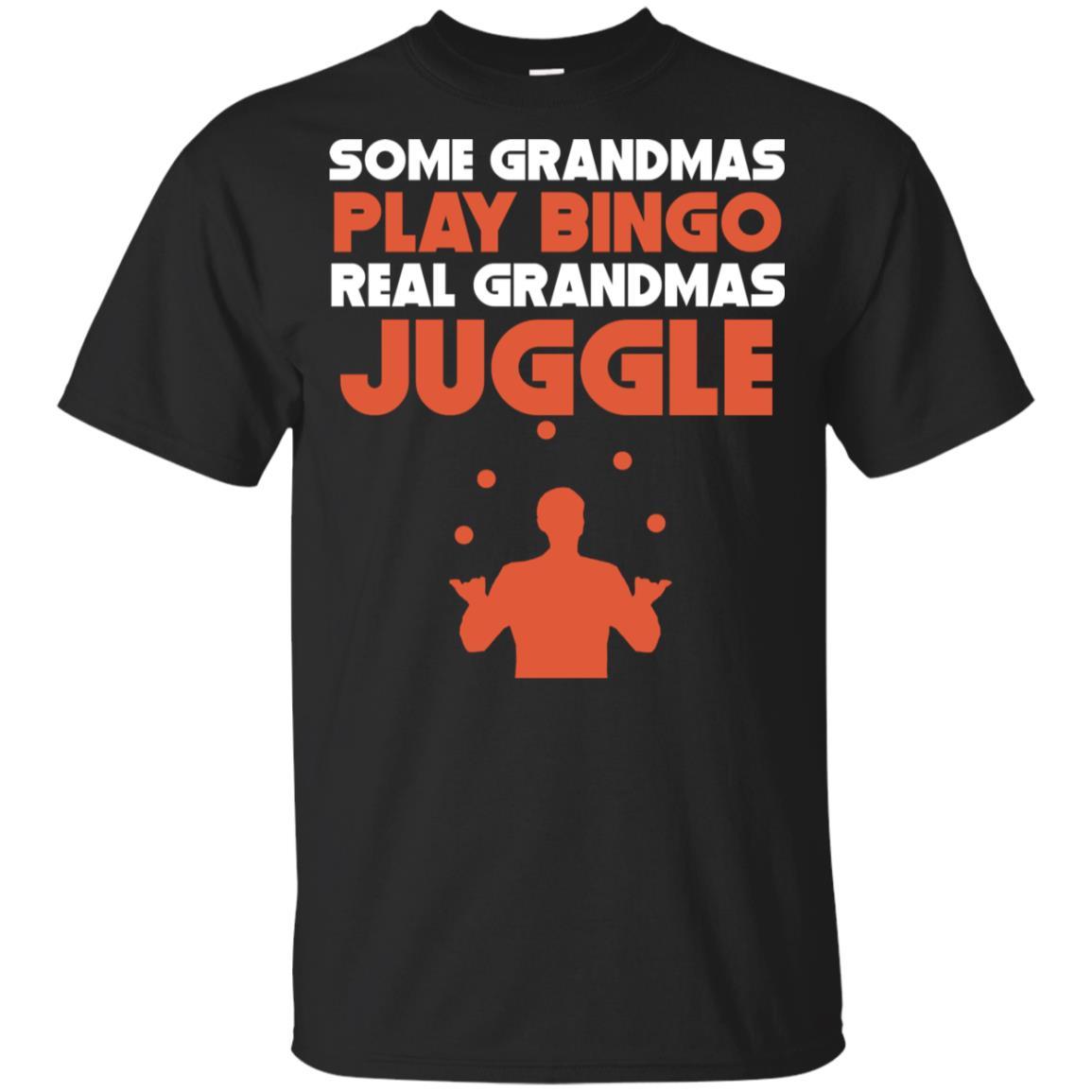 Some Grandmas Play Bingo Real Grandmas Juggle Youth Short Sleeve