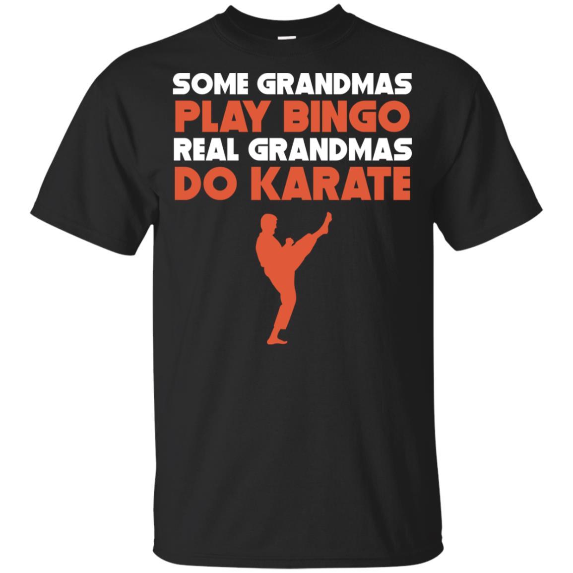 Some Grandmas Play Bingo Real Grandmas Do Karate Youth Short Sleeve