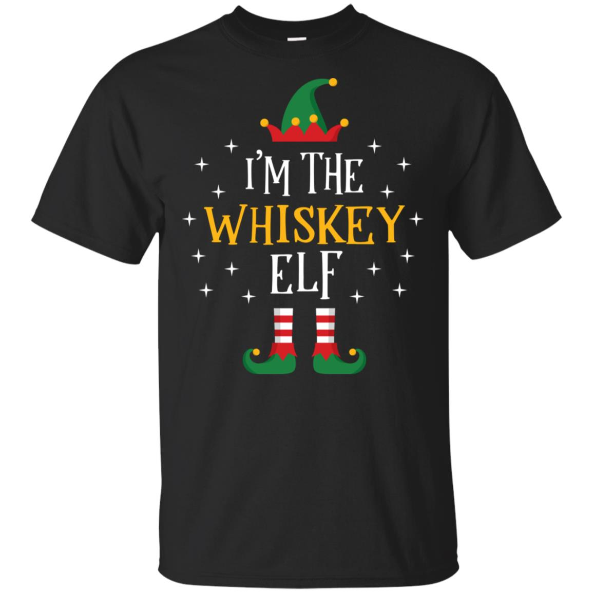 I'm The Whiskey Elf Funny Xmas Gift Family Group Unisex Short Sleeve