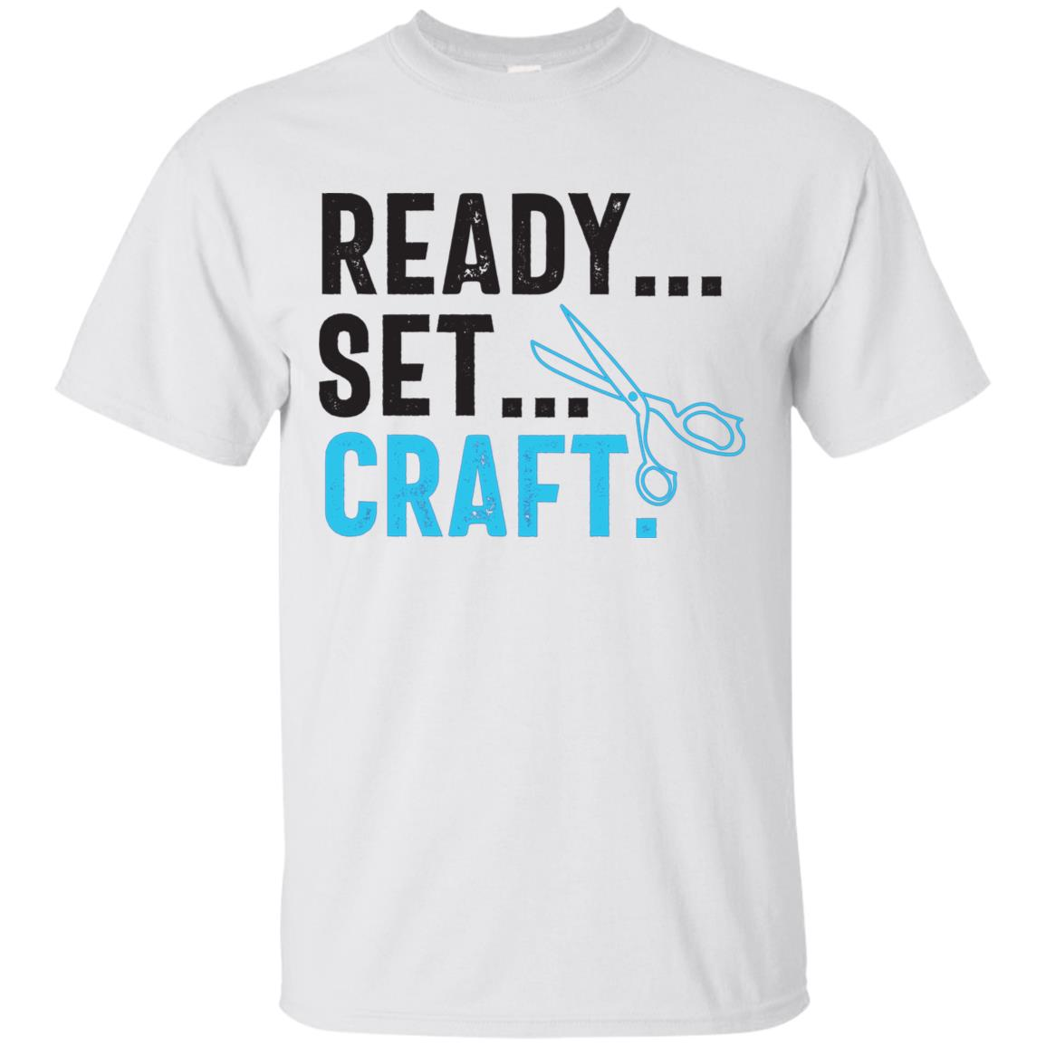 Funny Crafter Unisex – Ready, Set, Craft!-1 Unisex Short Sleeve