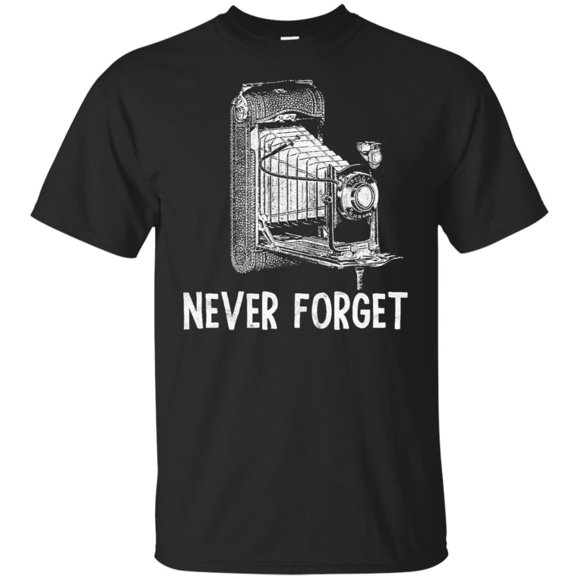 Never Forget Funny Retro Camera Photographers T Unisex Short Sleeve
