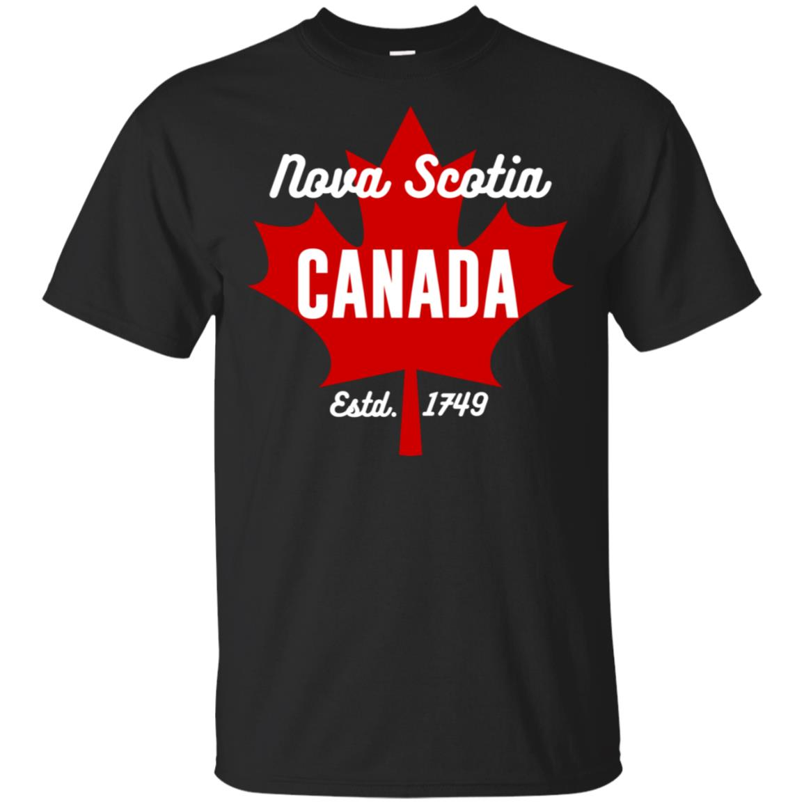 Nova Scotia Canada Eh Maple Leaf Canadian Flag Gift Unisex Short Sleeve