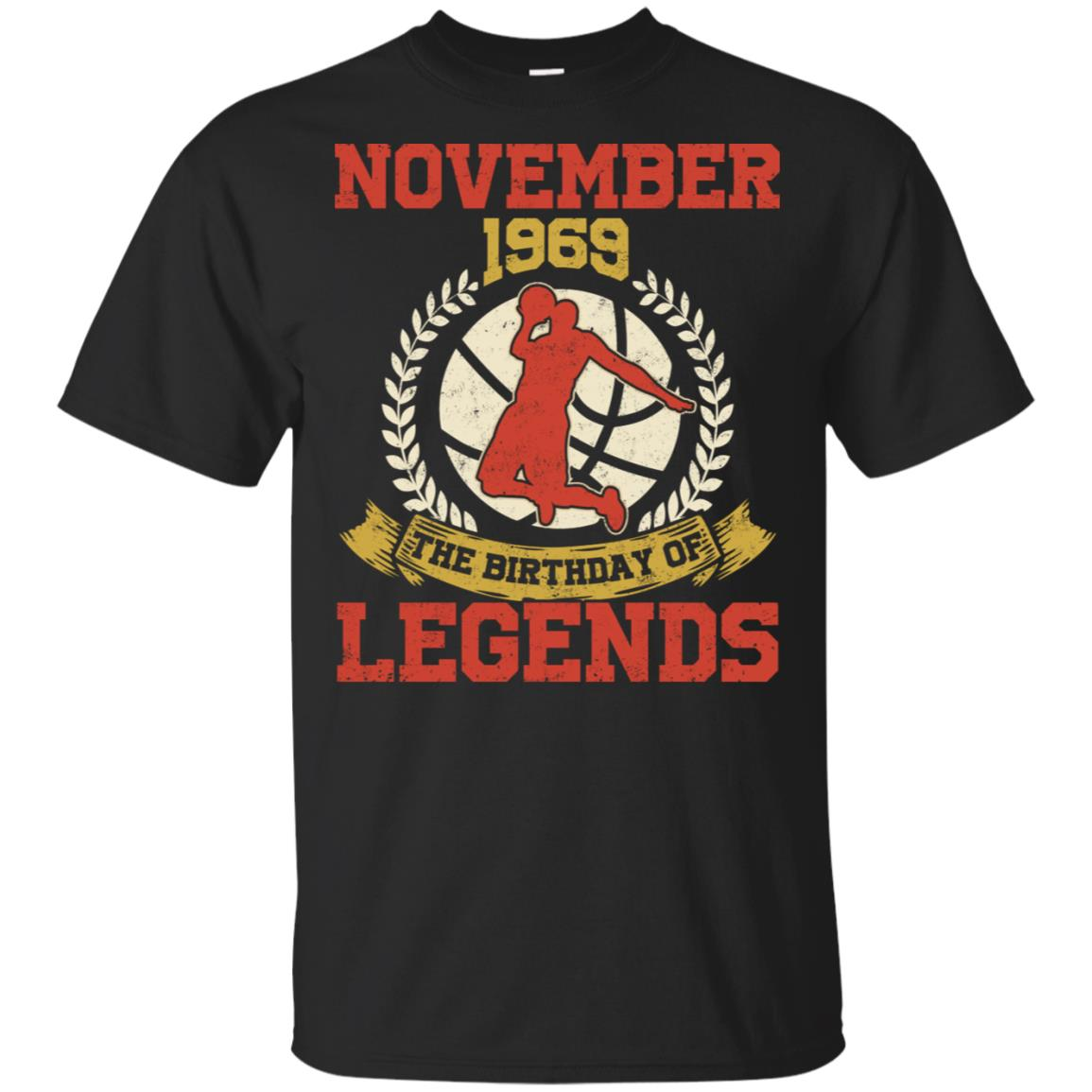 November 1969 49th Birthday Of Basketball Legend Long Slee Unisex Short Sleeve