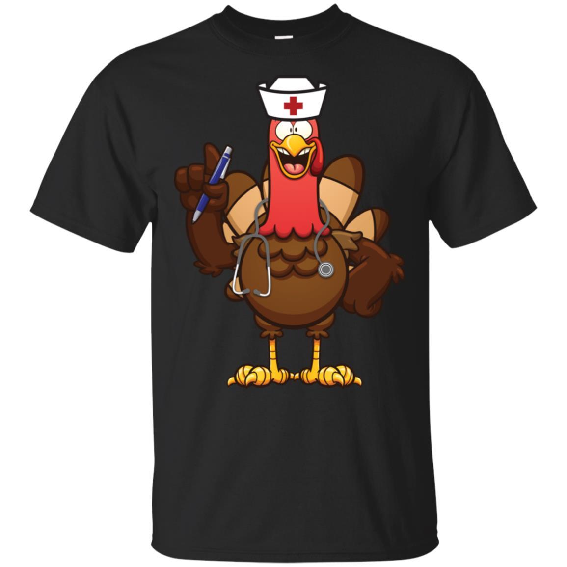 Nurse Thanksgiving Funny Rn Lvn Turkey Cute doctor Unisex Short Sleeve
