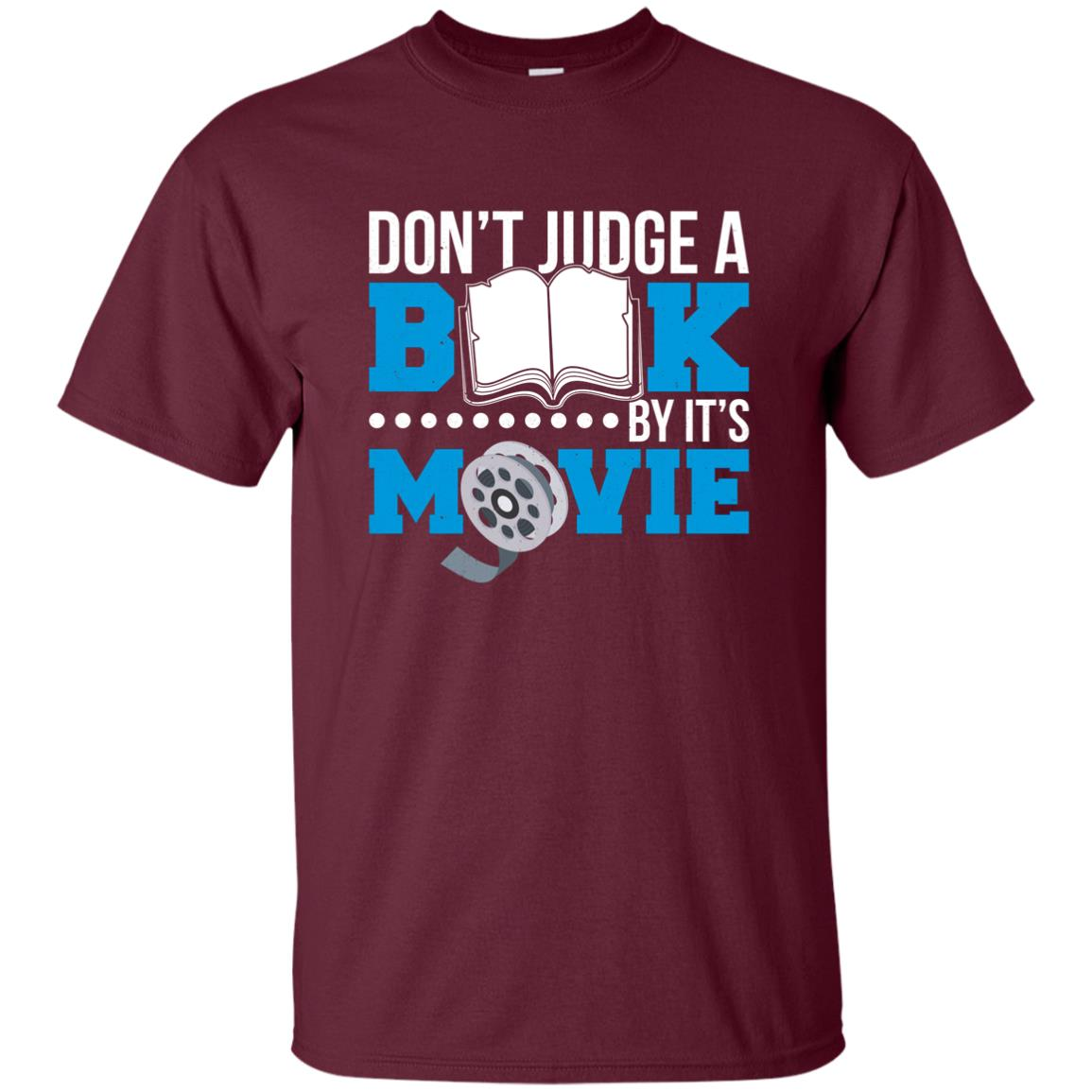 Funny Book Worm Don't Judge a Book By It's Movie Unisex Short Sleeve