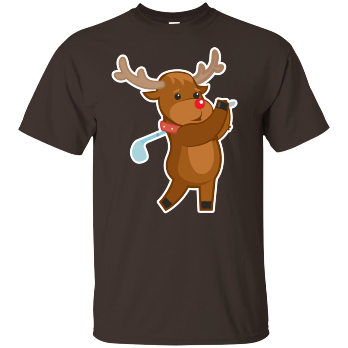 Funny Reindeer Golf Christmas Players Pajama Gift-1 Youth Short Sleeve