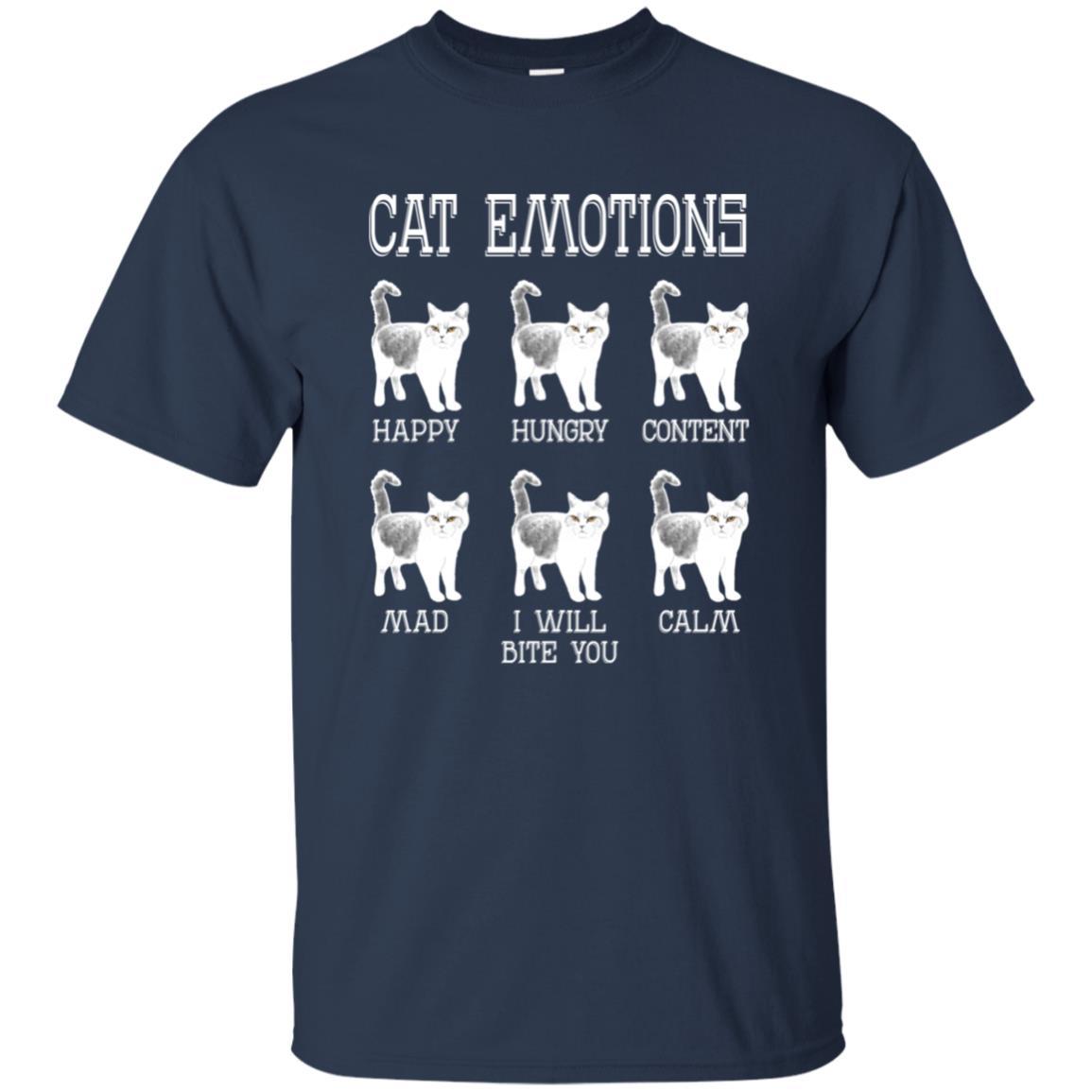 Funny Cat s Cat Emotions for Cat Fans Unisex Short Sleeve