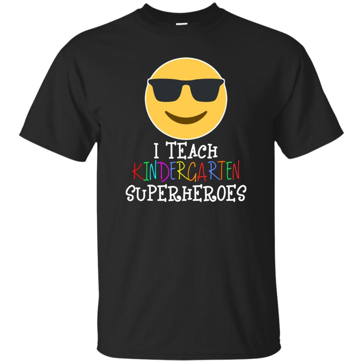 Funny Teacher Emoji I Teach Kindergarten Superheroes-1 Unisex Short Sleeve