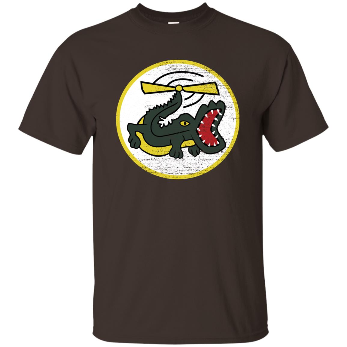 Funny Crocodile Helicopter Military Pilot Patch Unisex Short Sleeve
