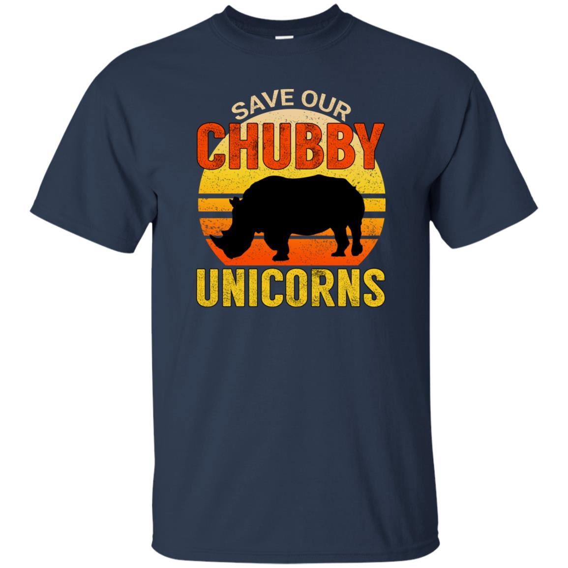 Funny Vintage Save Our Chubby Unicorns Unisex Short Sleeve
