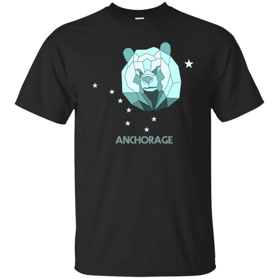 Geometric Bear Anchorage Alaska Stars Retro Hiking Ls Unisex Short Sleeve