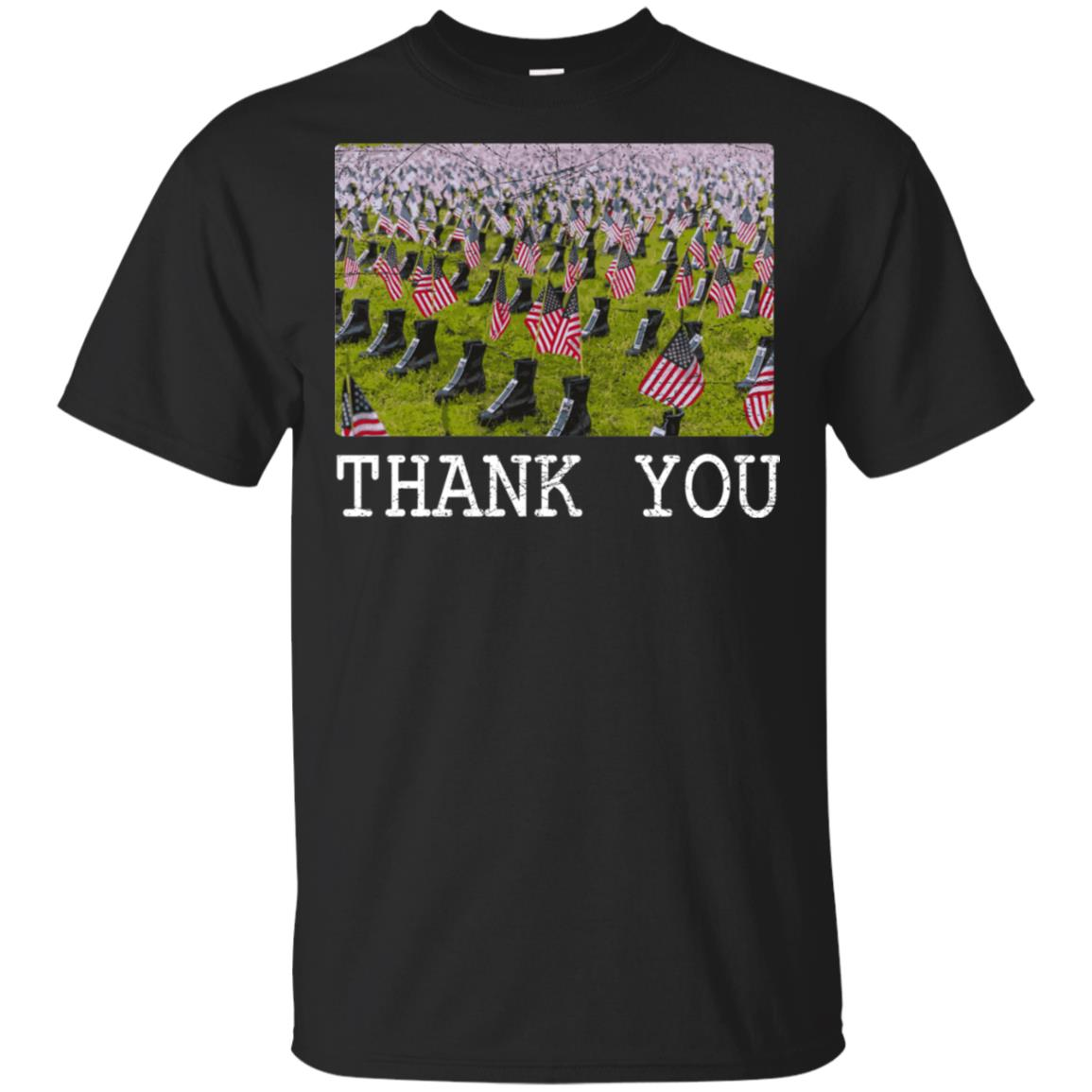 Thank You Veterans For Veterans Army Boots Unisex Short Sleeve