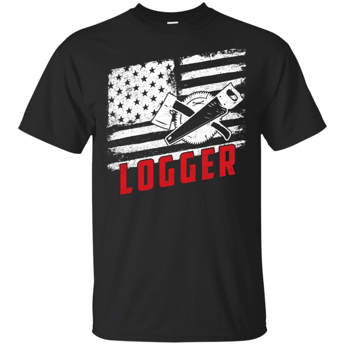 Vintage Logger American Flag Unisex Short Sleeve