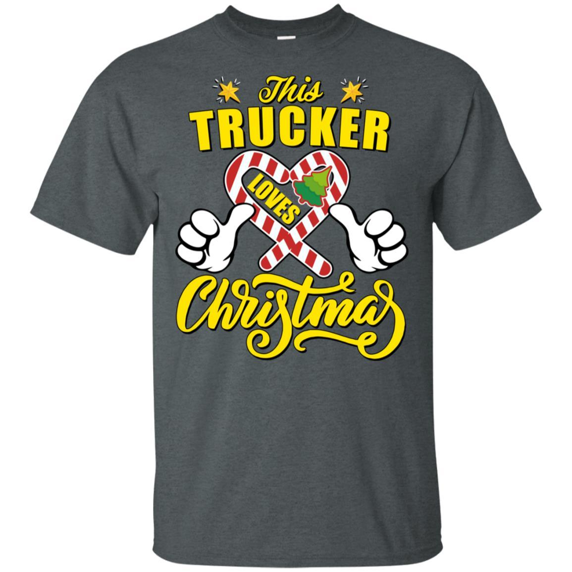This Trucker Loves Christmas Unisex Short Sleeve
