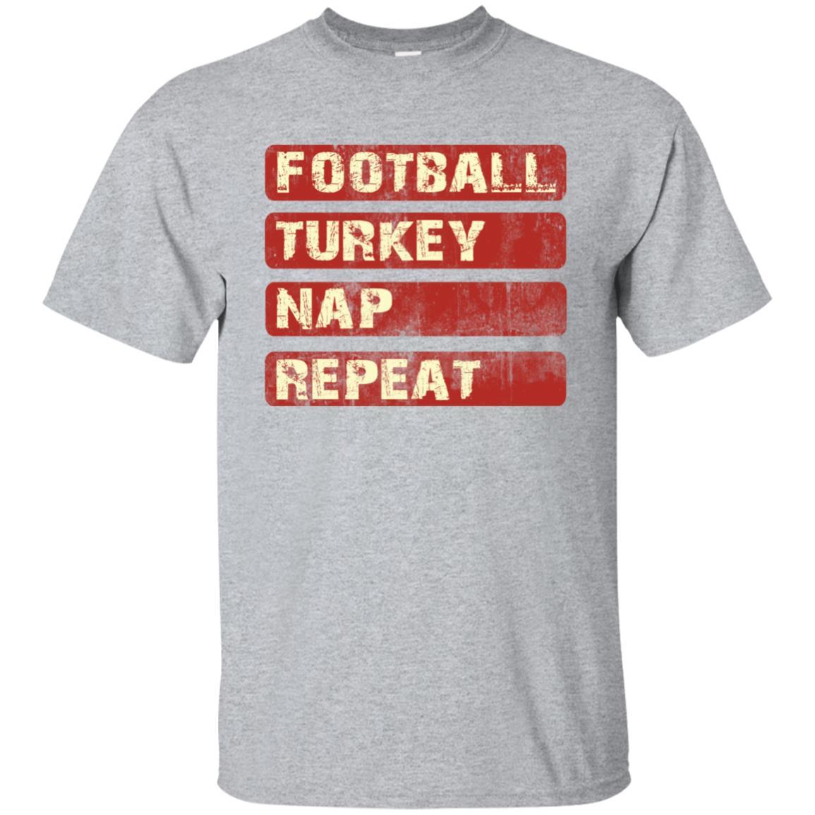 Football Turkey Nap Repeat Vintage Retro Thanksgiving Unisex Short Sleeve
