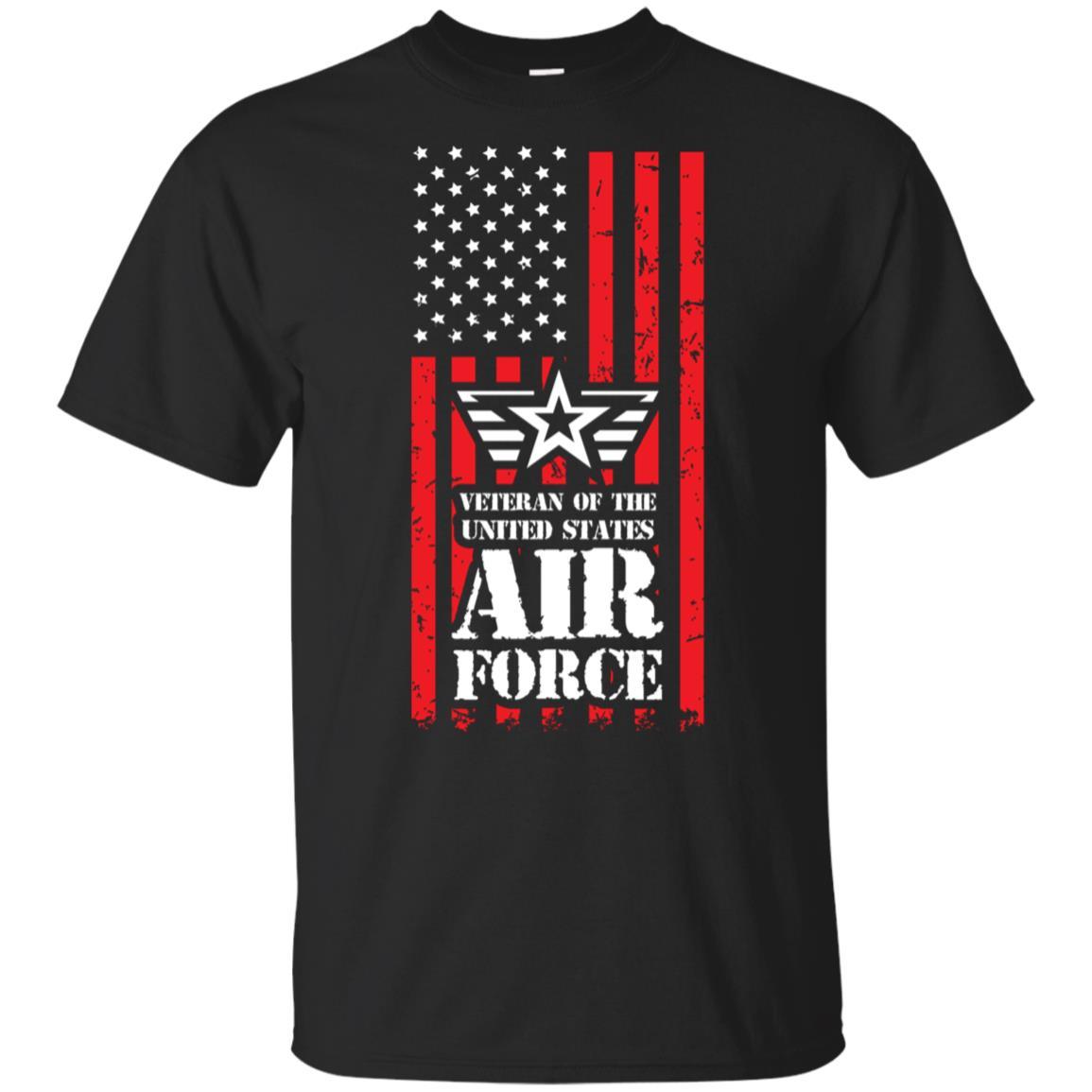 Us Air Force Veteran Red Tactical Flag Unisex Short Sleeve