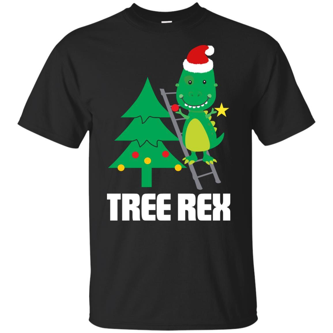 Funny Tree Rex Dinosaur Christmas Dino Lover Gift Unisex Short Sleeve