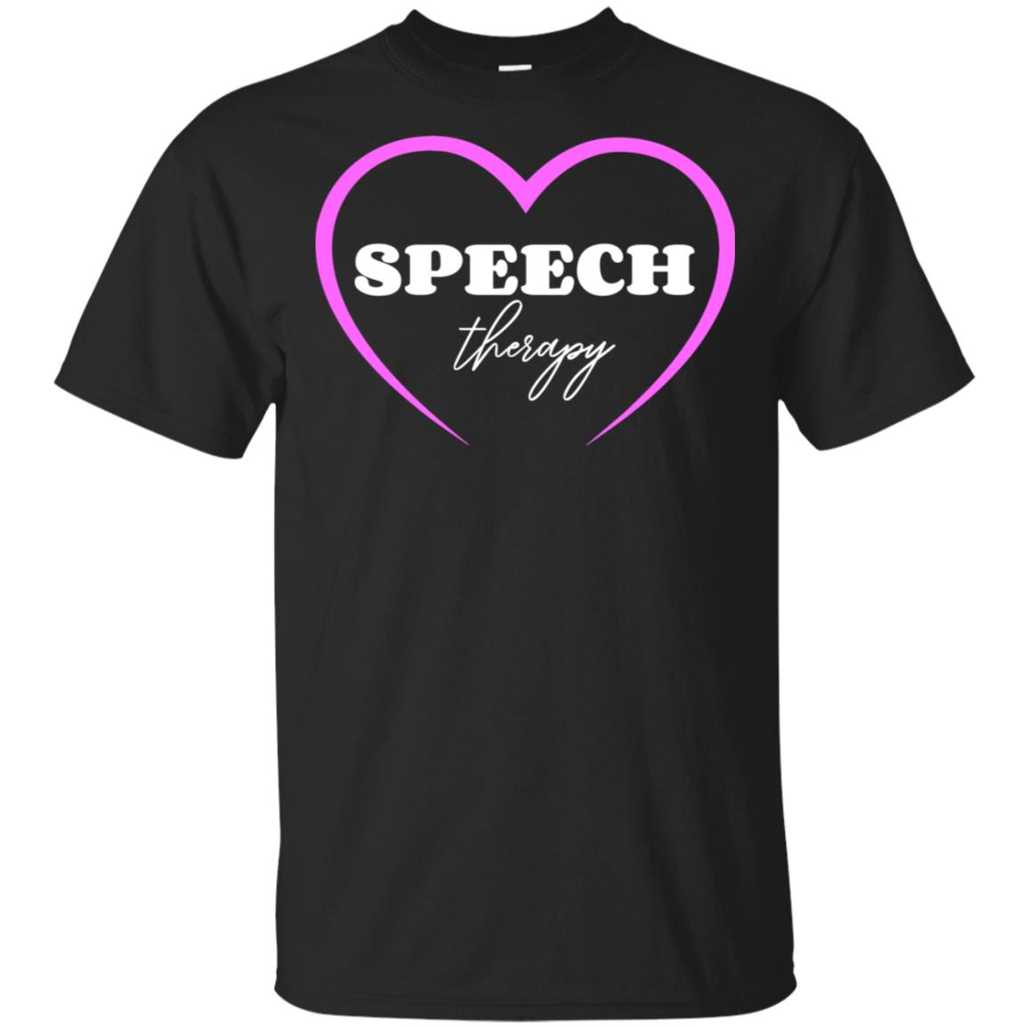 Speech Therapy Gift for Women with Hearts Unisex Short Sleeve