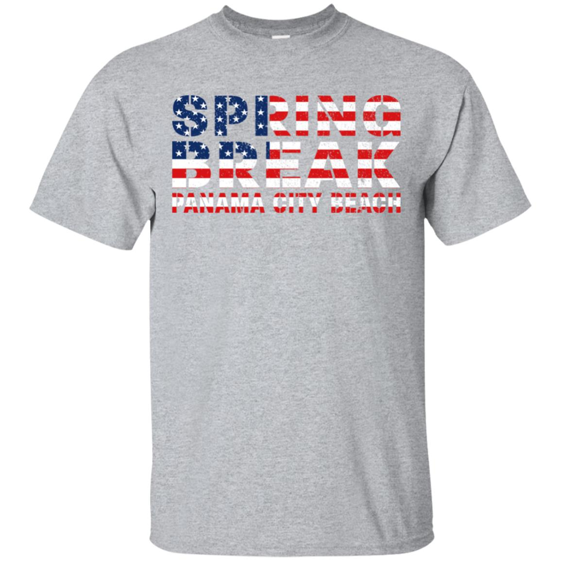 Spring Break Panama City Beach Us Flag d Unisex Short Sleeve