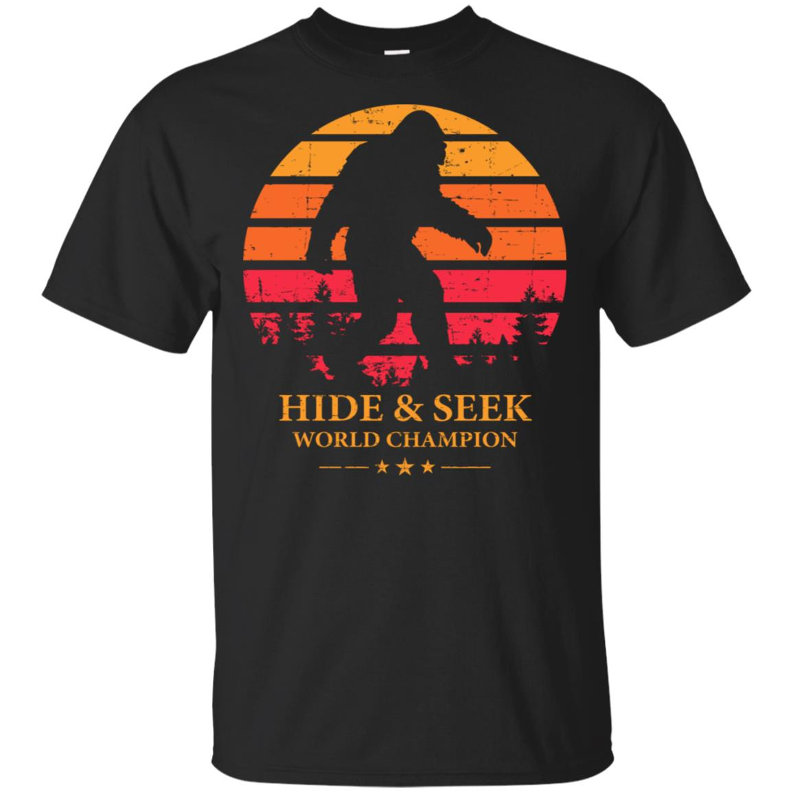Hide And Seek World Champion Bigfoot Is Real red Unisex Short Sleeve
