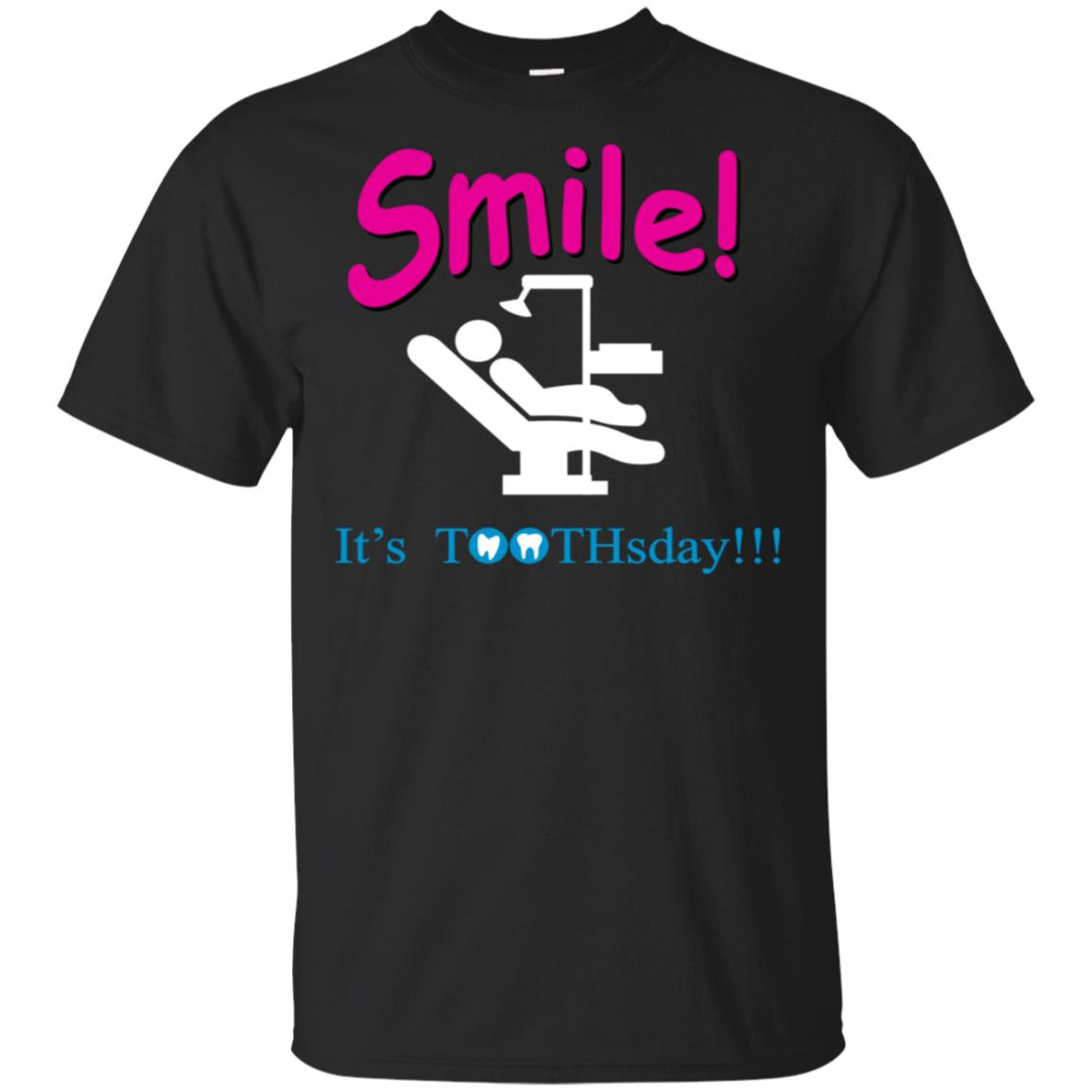 Smile It's TOOTHSday Funny Log Sleeve Unisex Short Sleeve