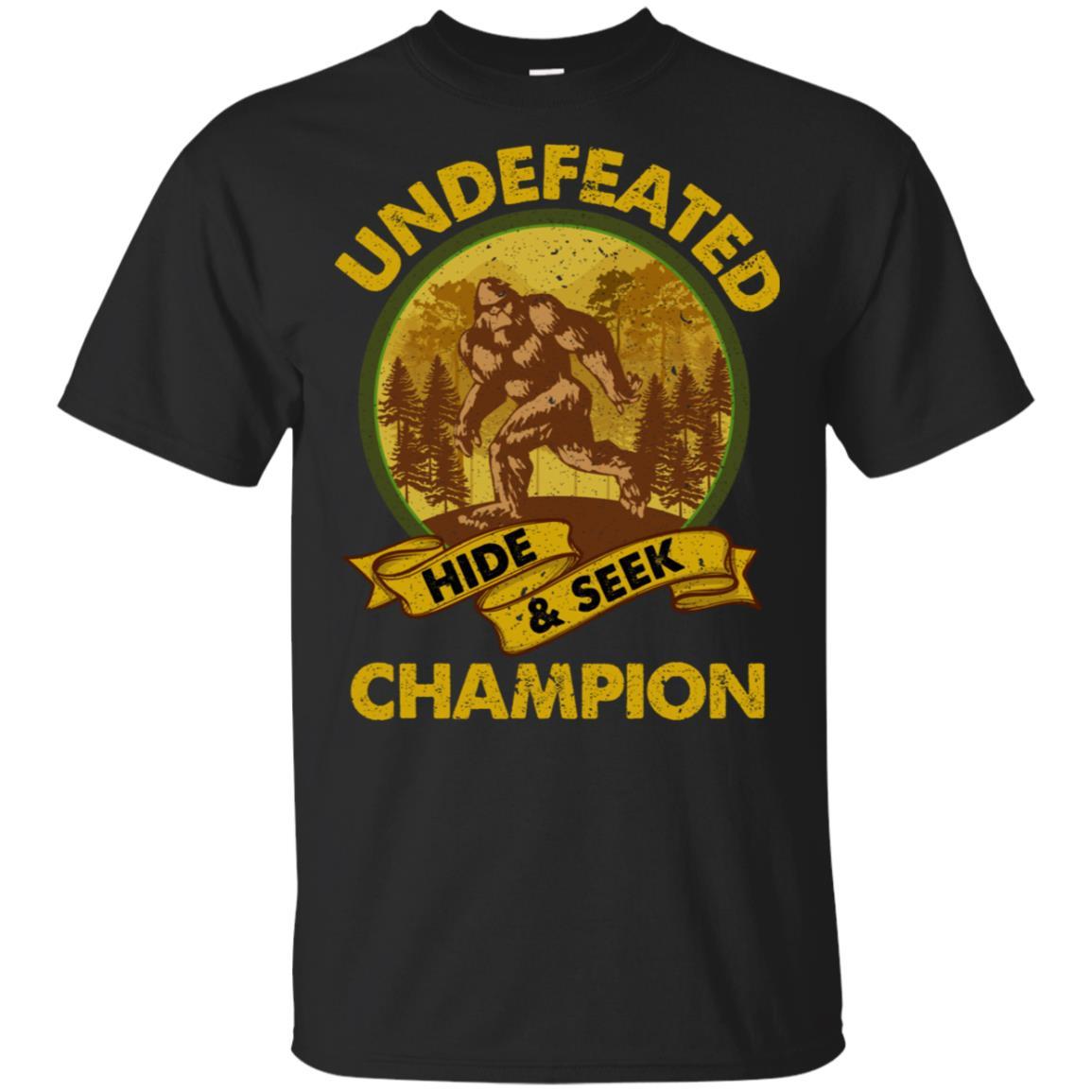 Undefeated Hide And Seek Champion Bigfoot Unisex Short Sleeve